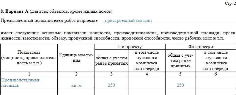 Акт приемки законченного строительством объекта – образец, бланк 2021 года