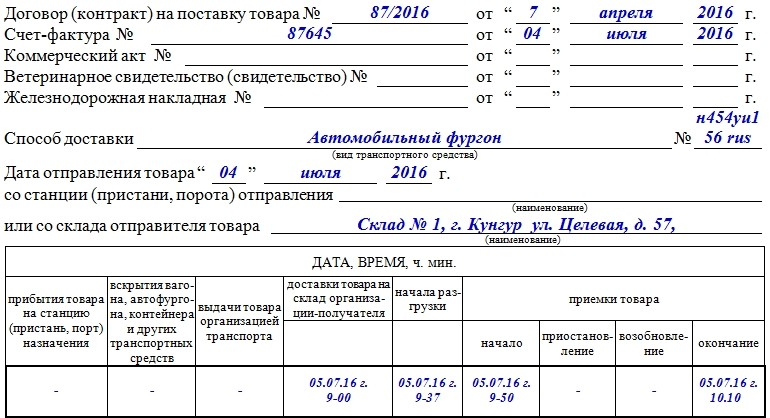 Акт о расхождении по форме ТОРГ-2 – образец, бланк 2021 года